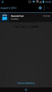 RemoteText apk screenshot