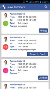 ODOO HRM apk screenshot