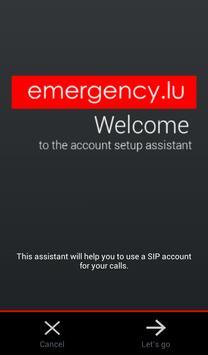 emergency.lu VoIP apk screenshot