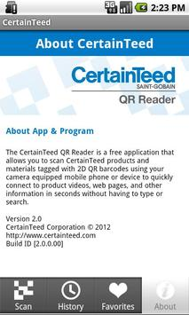 CertainTeed QR Reader apk screenshot