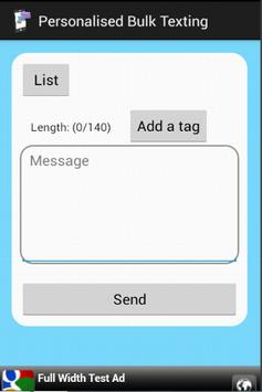 Personalized Bulk Texting poster