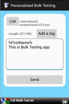 Personalized Bulk Texting apk screenshot