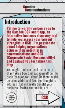 Camden CSR poster