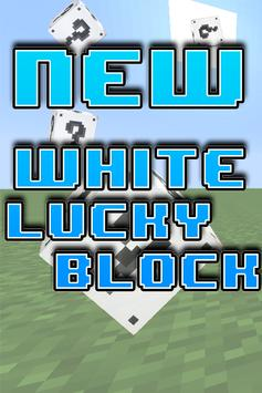Lucky Block White Mod for MCPE poster