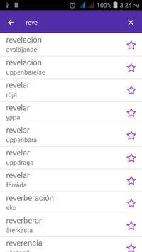 Spanish Swedish Dictionary apk screenshot