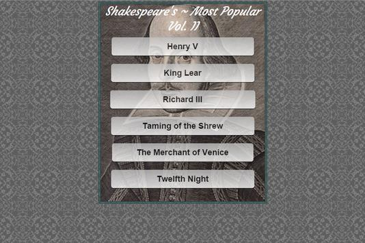 Shakespeare Most Popular Vol:2 apk screenshot