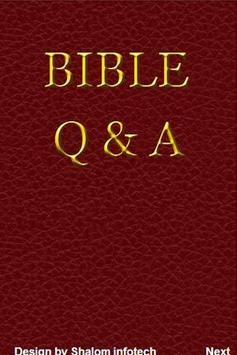 Bible Q A poster