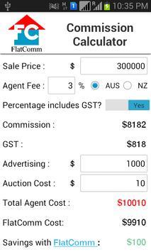 Real Estate Commission Calc apk screenshot