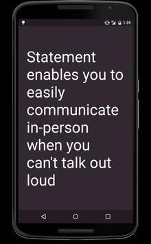 Statement apk screenshot