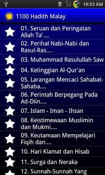 1100 Hadis Terpilih Malay poster