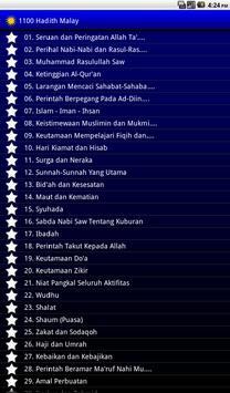 1100 Hadis Terpilih Malay apk screenshot