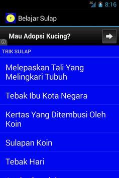 Belajar Sulap apk screenshot