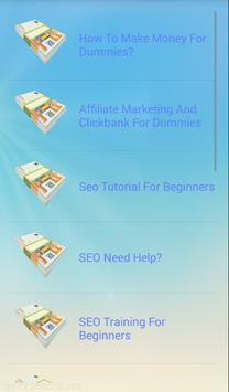 Affiliate Marketing For Dumies apk screenshot