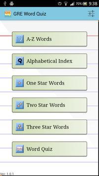 GRE Word Quiz poster
