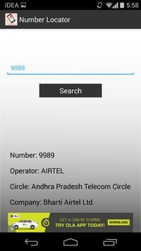 Caller Mobile Number locator apk screenshot