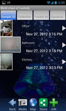 Mold Chain of Custody apk screenshot