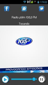 Rádio pbfm 105,3 FM poster