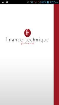 Finance Technique & Trend poster