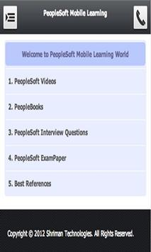 PeopleSoft Mobile Learning poster