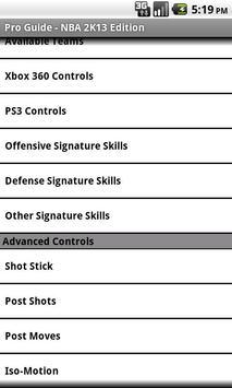 Pro Guide - NBA 2K13 Edition apk screenshot