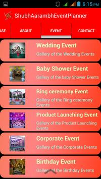 Shubh Aarambh Event Planner apk screenshot