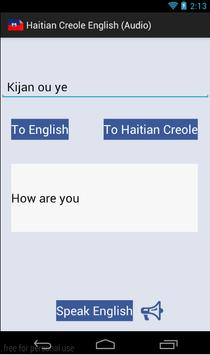 Haitian Creole English (Audio) poster
