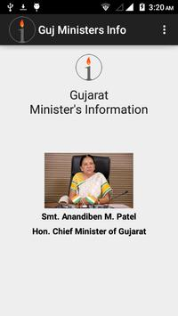 Gujarat Ministers Information poster