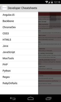 DeveloperCheatsheets apk screenshot