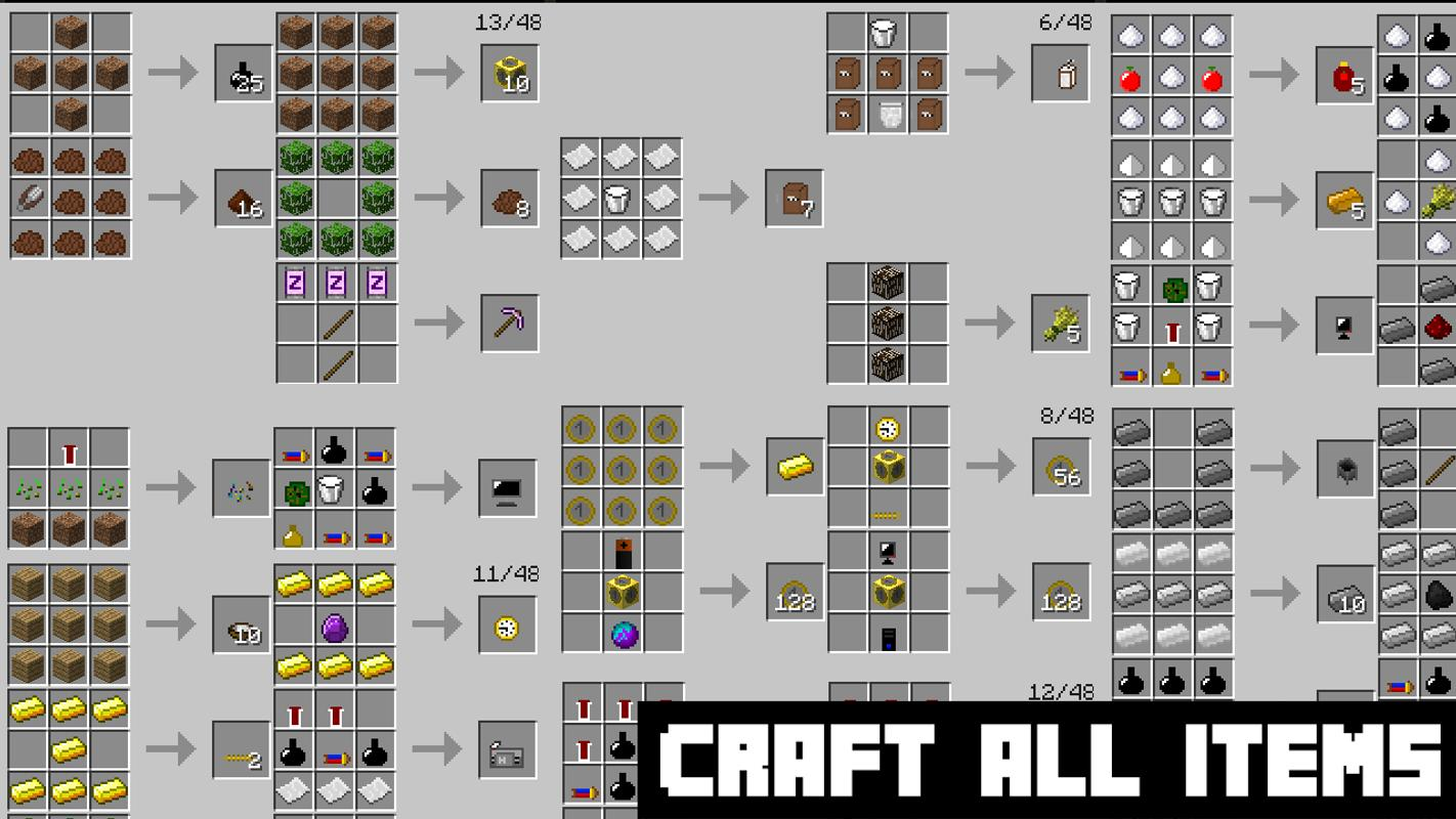 Craft all items mcpe apk download free books reference for How do you craft in minecraft