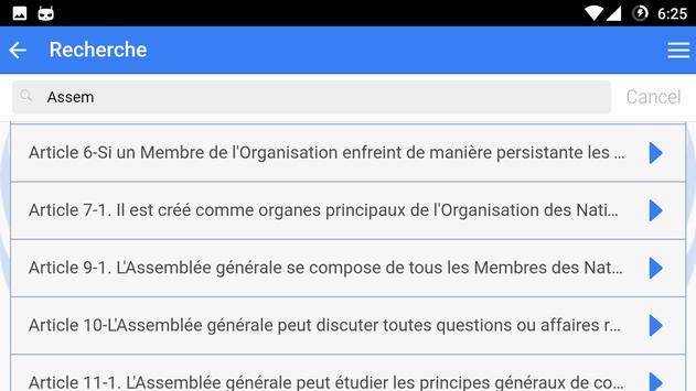 Charte des Nations Unies apk screenshot
