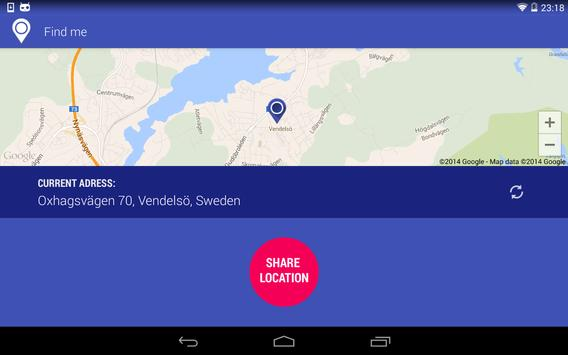 Find Me - Share your where apk screenshot
