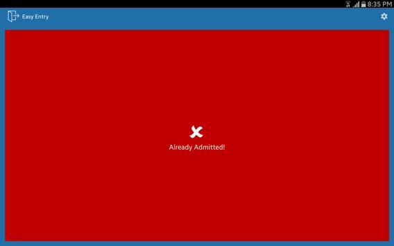 Easy Entry Ticket Scanning apk screenshot