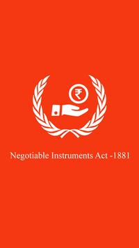 Negotiable Instrument Act 1881 poster