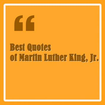 Quotes Martin Luther King,Jr. poster