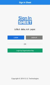Sign In Sheet apk screenshot