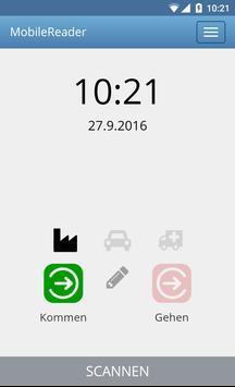 MobileReader - Zeiterfassung poster