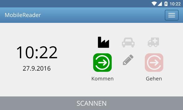 MobileReader - Zeiterfassung apk screenshot