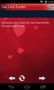 Sad Love Quotes For Heartbreak apk screenshot