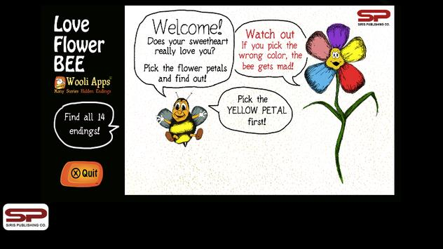 The Love Flower BEE poster