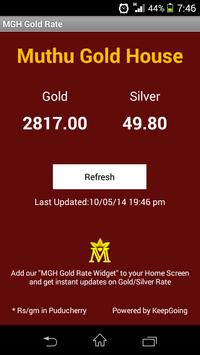 MGH GOLD RATE poster