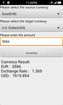 Currency Conversion apk screenshot