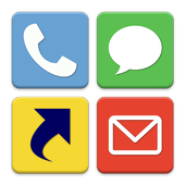 Speed dial of Phone/Mail/SMS icon