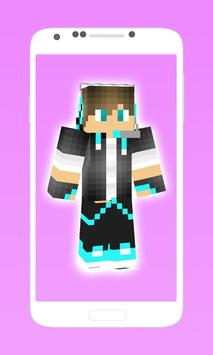 cool boy skins for minecraft 2 poster