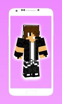 cool boy skins for minecraft 2 apk screenshot
