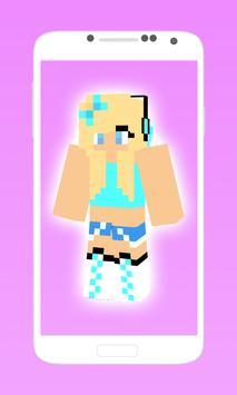 Pretty minecraft girl skins poster