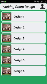 Working Room Design poster