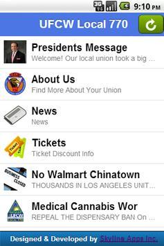 UFCW Local 770 apk screenshot