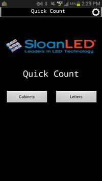 SloanLED Quick Count poster