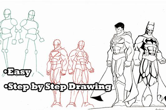 How to Draw Comic Superheroes poster