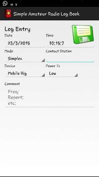 Simple Amateur Radio Log Book apk screenshot